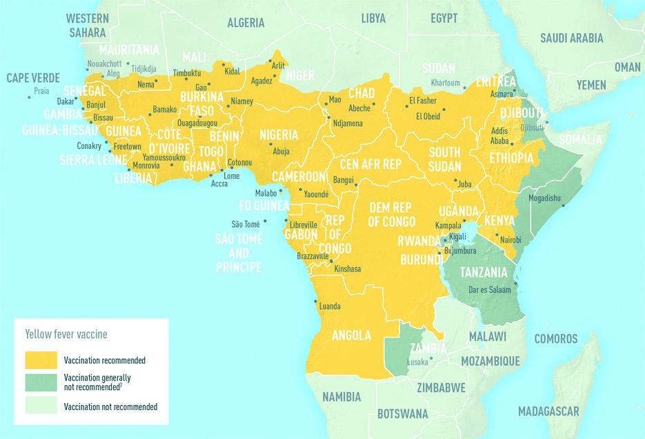 Fiebre amarilla en África