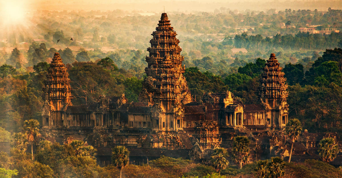 Buddhist temple Angkor Wat draws in many of Cambodia's consistent tourists.