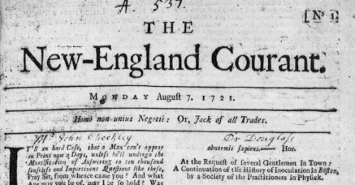 William Franklin made the New England Courant to voice his stance against inoculation.