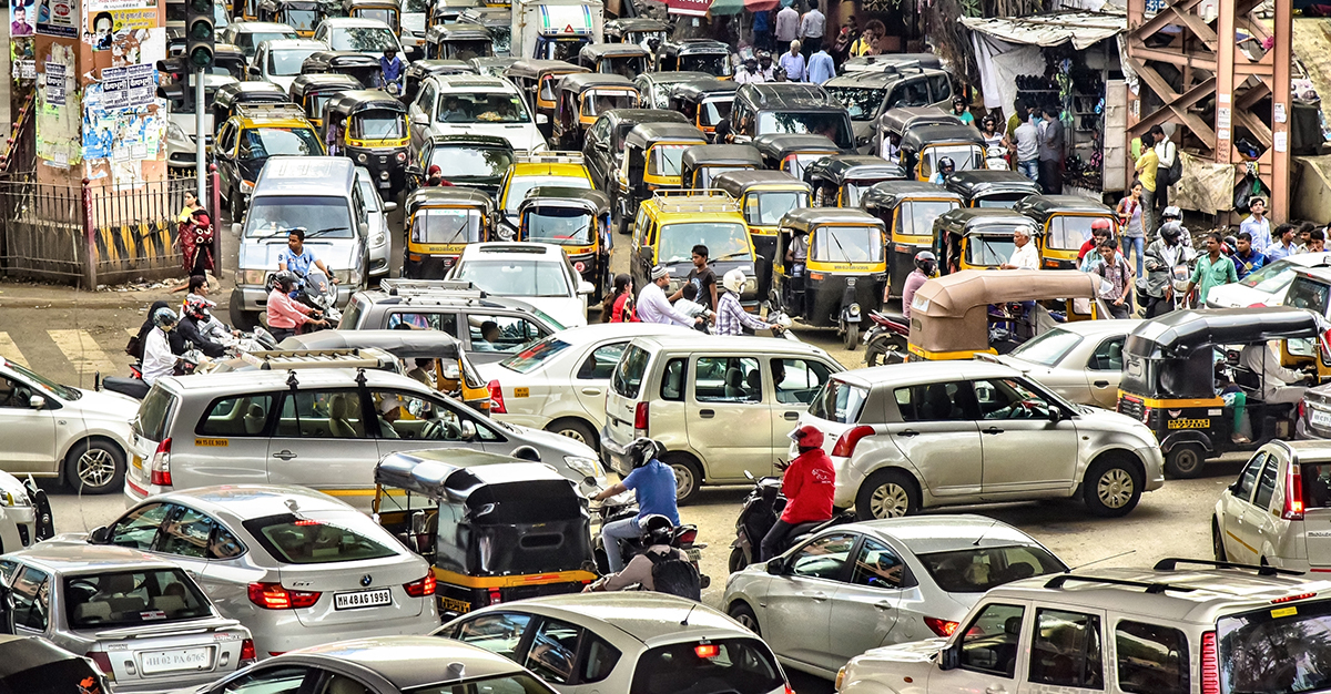 El tránsito indio es uno de los más caóticos