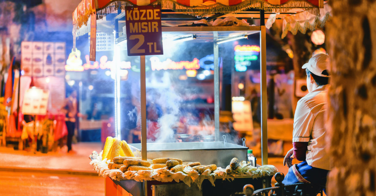 Foreign street vendors often don't have the same health standards.